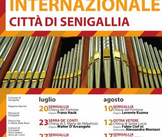 """XVI edizione del Festival Organistico Internazionale """"Città di Senigallia"""""""